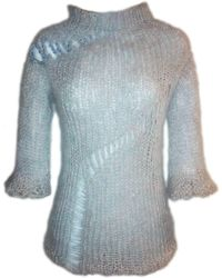 Claire Andrew | Grey Knit Jumper With Swarovski Embellishment | Lyst