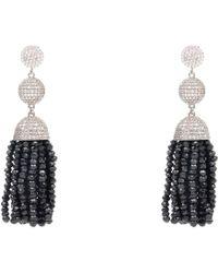 LÁTELITA London - Tassel Ball Earring Black Spinel Silver - Lyst