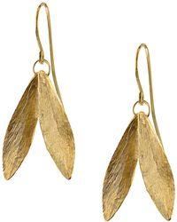 Catherine Zoraida Double Leaf Earring - Metallic