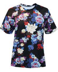 Sophie Cameron Davies Floral Cotton T-shirt - Blue