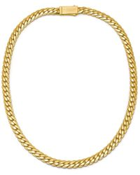 Northskull Flat Curb Chain Necklace In Gold - Metallic