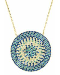 Cosanuova - Gold Flat Turquoise Disc Necklace - Lyst