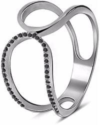 Cosanuova Prater Diamond Ring 18k Black Gold
