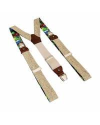 40 Colori Beige Melange Wool & Silk Braces - Natural