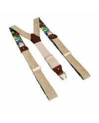 40 Colori - Beige Melange Wool & Silk Braces - Lyst