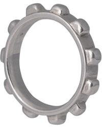 Edge Only Worry Ring Ladies In Silver - Metallic