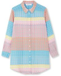 Jessica Russell Flint Boyfriend Shirt - Blue