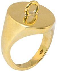 Glenda López - The Link Signet Ring - Lyst