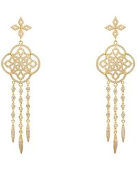 LÁTELITA London - Celtic Knot Dream Catcher Statement Earring Gold - Lyst