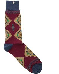 40 Colori - Aubergine Pyramid Organic Cotton Socks - Lyst