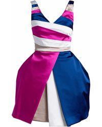 Philosofée Stripes Cocktail Dress - Multicolour