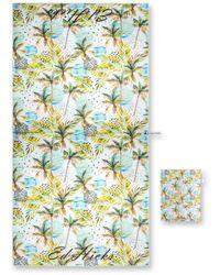 Drew Lennox Sapri Beach Towel In Palm Beach - Blue