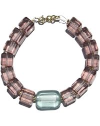 Roses Are Red Pink Semiprecious Stone Bracelet - Multicolor