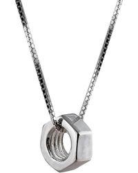 Edge Only Heart Pendant Silver - Metallic