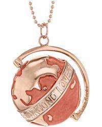 True Rocks - Medium Globe Necklace Rose Gold & Nude Enamel - Lyst