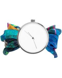 May28th - 04:27pm Multicolour Silk Watch - Lyst