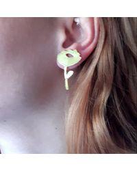 Lily Flo Jewellery Tulip Earrings In Sterling Silver - Metallic