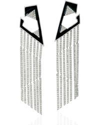 Artisan - 18k White Gold Pave Diamond Dangle Earrings - Lyst