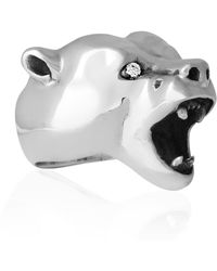 Strange Fruit - Bear Ring Silver With Diamonds - Lyst