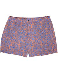 lords of harlech Quack 2 Shadow Floral Coral - Blue