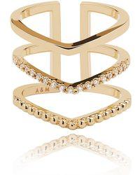 Astrid & Miyu - Mystic Ring In Gold - Lyst