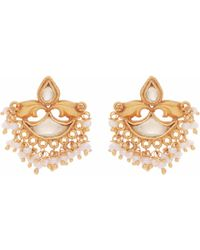 Carousel Jewels - Mother Of Pearl & Crystal Clustered Earrings - Lyst
