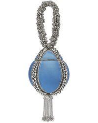Mae Cassidy Babi Bracelet Clutch Bag In Coastline Denim-blue