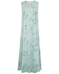 Klements Patti Dress In Old Neptune Print - Green