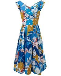 Emily and Fin Florence Blue Asilah Floral Dress