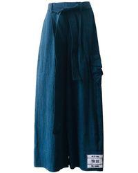 ARSHYS Denim Ankle-gazer Trousers - Blue