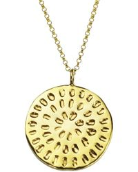 Yvonne Henderson Jewellery Moroccan Inspired Large Organic Disc Necklace Gold - Metallic