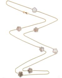 Cosanuova Mother Of Pearl Clover Necklace - Metallic