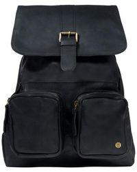 MAHI Leather Explorer Backpack/rucksack Womens In Ebony Black