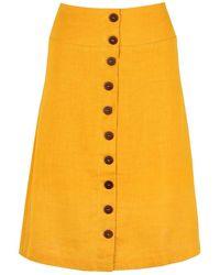 blonde gone rogue Linen Skirt In Yellow