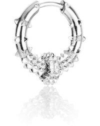 Kasun - Hoop Earring – Silver - Lyst