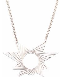 Mademoiselle Felee - Barcelona Engraved Star Estrella Necklace Silver - Lyst