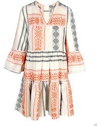 Haris Cotton Polymnia Mini Dress Lotos - Orange