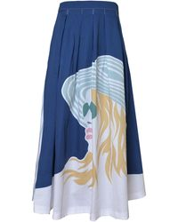 My Pair Of Jeans Viky Maxi Skirt - Blue