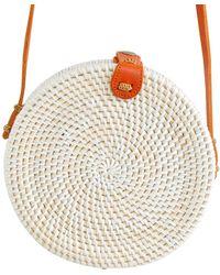 Soi 55 Lifestyle Cantik Round Bali Bag White