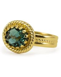 Vintouch Italy - Luccichio Green Agate Band Ring - Lyst