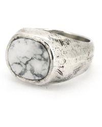Frederick Grove - Howlite Ring - Lyst