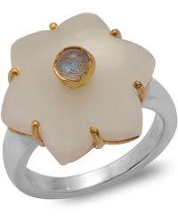 Emma Chapman Jewels | Jamila White Moonstone Ring | Lyst