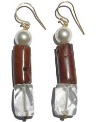 Roses Are Red - Pearls & Semiprecious Stones Earrings - Lyst