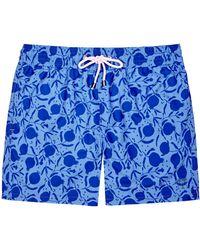 Pink House Mustique Men's Swim Shorts - Blue