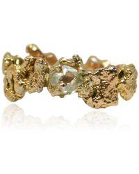 Karolina Bik Jewellery - Out Of The Sea Ring In 14k Gold & Raw Diamond - Lyst
