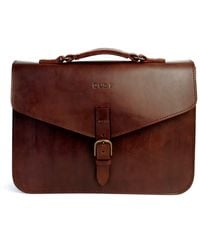 THE DUST COMPANY Mod 122 Briefcase In Cuoio Havana - Brown