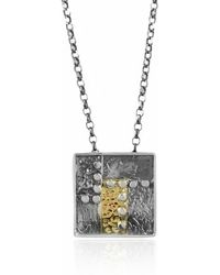 Katarina Cudic Elements Big Square Pendant - Metallic