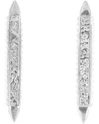 Annabelle Lucilla Jewellery - Karuna Colonette Studs Silver - Lyst