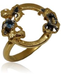 Karolina Bik Jewellery Out Of The Sea Growth Circle Ring With Topaz - Metallic
