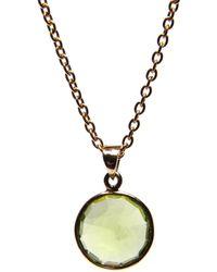 Puck Wanderlust Peridot Gold August Birthday Charm Necklace - Metallic